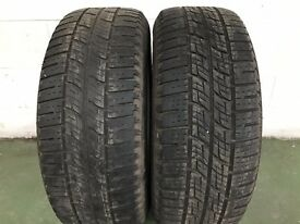 2 PIRELLI SCORPION ZERO 255 60 18 PART WORN. 4 - 6 MM TREAD