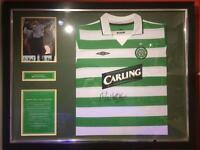 Signed Martin O'Neill Celtic shirt