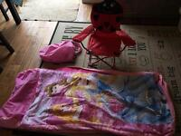 Toddler Camping Bed and chair