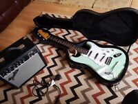 Fender squier stratocaster surf green
