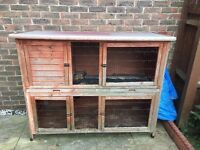 Large, well used Rabbit Hutch. Average condition, in good working order. COLLECTION ONLY!