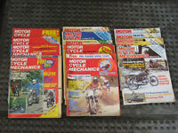 Motorcycle Mechanics magazine 1976 - 1979, 13 motor cycle motorcycling magazines in total