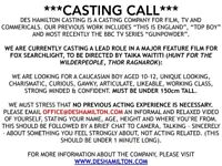 Serious CASTING CALL for 10-12 year old boy. Paid lead for Hollywood feature film. Read image.