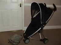 QUINNY ZAPP PUSHCHAIR, BUGGY, STROLLER WITH RAIN COVER - COMPACT FOLD - GREAT FOR HOLIDAYS - BLACK