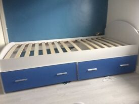 Boys single bed blue