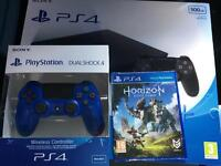 Ps4 Slim Extra controller Horizon Zero down Game All new Warranty Delivery