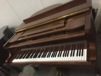 BRAND NEW - STEINHOVEN SG148 - HIGH GLOSS WALNUT BABY GRAND PIANO