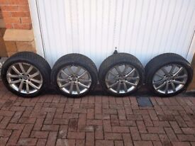 AUDI A7 ALLOY WHEELS AND Dunlop SP Winter Sport 3D 225/50 R17 98H XL AO with rim protection (MFS)