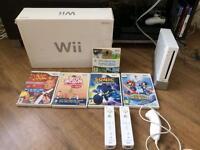 Nintendo Wii boxed Mario & sonic bundle 2 controller plus more