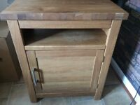 Solid oak tv stand cabinet