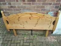 Double wooden head board