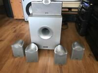 Tannoy 5.1 Surround Sound Speakers and subwoofer
