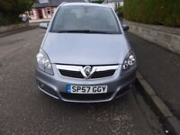 2007 Vauxhall Zafira 1.8i Design 7 Seater Petrol ** FULL YEARS MOT**