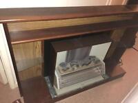 Electric fireplace shelf vintage