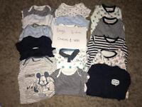Boys clothes 3-6 months vests / all in ones