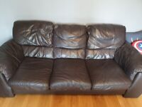 *FREE* Brown leather sofa from DFS