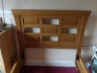 good looking single bed frame , strong wooden lathes base, dismantled and available now