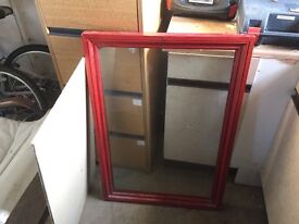 solid heavy wood display frame with glass front 700mm x 1000mm