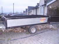 Bateson single axle trailer sides can be removed to make flatbed trailer good usable condition