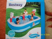 Kids paddling large pool -used once ng6