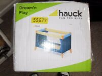 TRAVEL COT BRAND NEW BOXED UNWANTED GIFT