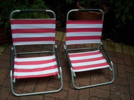 Pair of Beach/Camping Chairs Foldable. Excellent Condition.