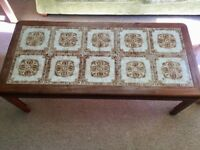 Solid Oak vintage / retro tiled coffee table from the 70s