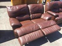 3 +2 seater leather sofa in good condition
