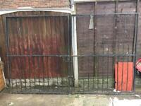 Wrought iron drive gates 9ft approx