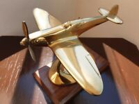 Solid Brass Spitfire Ornament