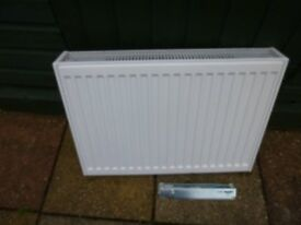 White double convector radiator
