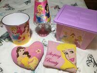Girls Disney Princess Lamp Bundle