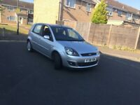 2008 Ford Fiesta Ghia 1.4 Tdi Diesel 5 Doors 1 Owner Silver Fully Leather Seats 1 year mot