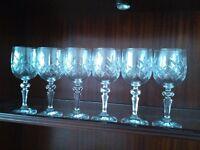 Cut Glass Wine Glasses