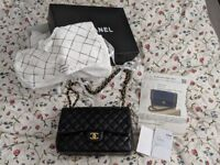 Chanel lambskin jumbo classic double flap handbag box receipt sticker card & certificate