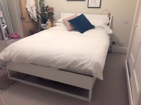 White Double Bed Frame - IKEA