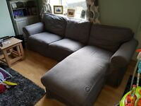 Ektorp Ikea Two-seat sofa and chaise longue