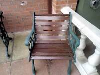 Cast iron table and 2 chairs