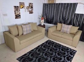 **SPECIAL OFFER** BRAND NEW ELEGANT LUXURY CHARLES MIDNIGHT (3+2) SOFA SET OR