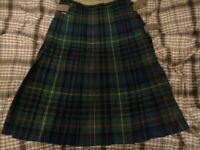 Stewart hunting ancient tartan Kilt size 26 to 28 inch waist 24 inch drop, quality kilt