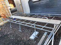 Roof rack with walkway & ladder