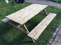 5 ft Picnic Table & Bench set. New. Flatpack.PICK UP TODAY.