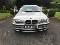 2001 BMW 316i SE, SILVER 4DR SALOON