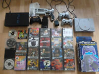 P* STATION 1-2 [4CONTROLLERS,RELOAD GUN & PEDAL, M-CARDS Plus 16 GREAT GAMES INC SILENT HILL!!!
