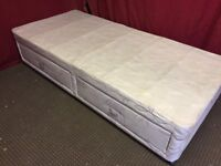 SILENTNIGHT SINGLE DIVAN BED BASE WITH 2 DRAWS ,CAN DELIVER
