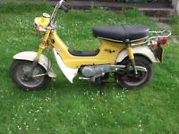 pair of honda cf70 chaly monkey bikes 1976