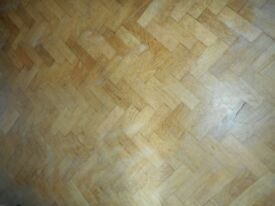 Reclaimed Solid Oak Parquet floor blocks