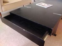 Coffee tables (2-piece set) HEAVY black wood with chrome legs FREE must go by 22 Aug