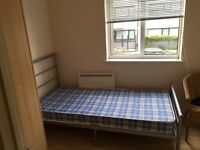 Single Bed (Metal frame) with Mattress available for collection