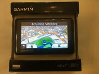 Garmin Sat Nav - Nuvi 1390t - As New - In Box - Euro Maps - Lane Assist - Bluetooth